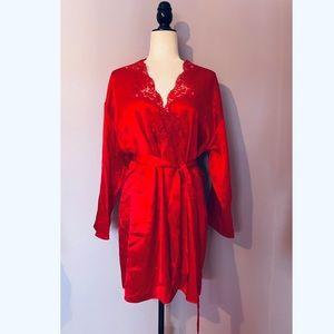 Victoria's Secret vintage gold label red robe